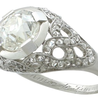 2.30 ct Diamond and Platinum Dress Ring - Antique Circa 1900