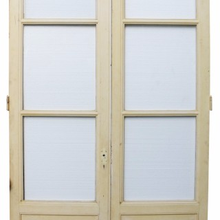 Pair Of Antique French Interior Glazed Double Doors