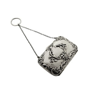 Antique Sterling Silver Purse 1912