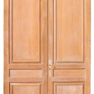 Pair Of Antique Limed Oak Double Doors