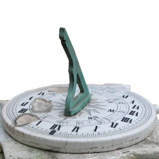 English Georgian Style Limestone Garden Sundial