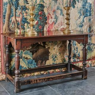 Charles I oak serving table