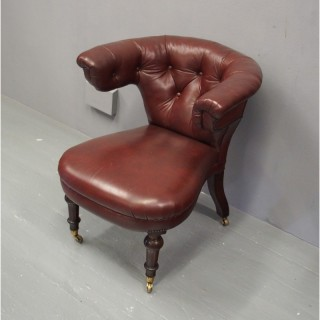William IV Leather Cockfighting Chair