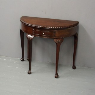 Chippendale Style Mahogany Foldover Games Table