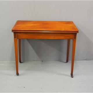 George III Mahogany Foldover Tea Table