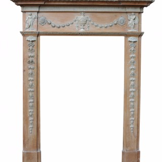 Antique Georgian Pine And Composition Fire Surround