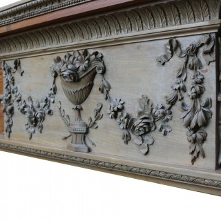 Antique Georgian Period Carved Pine Fire Surround In The Adam Style