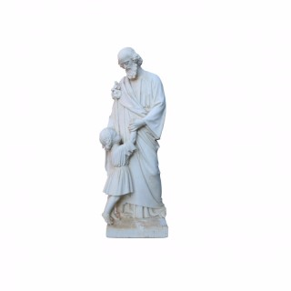 Antique Plaster Sculpture / Statue Of St. Anthony