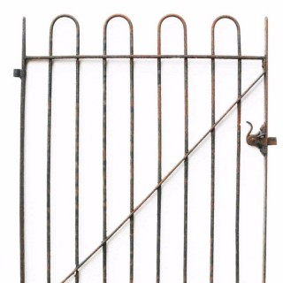 Antique Wrought Iron Hoop Top Garden Gate