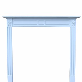 Georgian Style Painted Pine Fire Surround