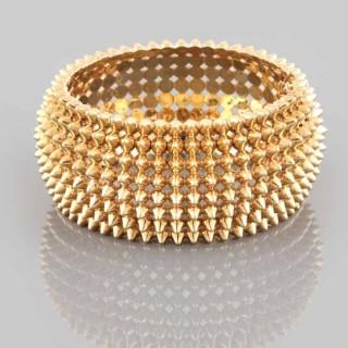 Spiked gold, Art Deco bracelet