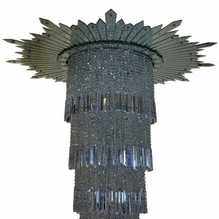 A MONUMENTAL ART DECO CHANDELIER FROM THE ADELPHI BUILDING