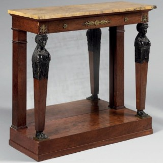 PAIR OF IST EMPIRE PERIOD CONSOLE TABLES
