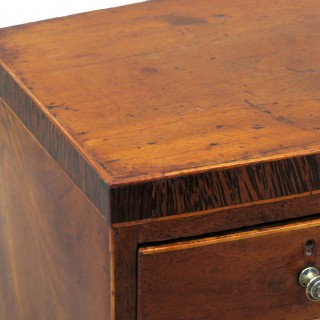 Miniature 19th Century Mahogany Bowfronted Chest