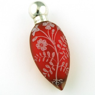 Webbs red glass cameo scent