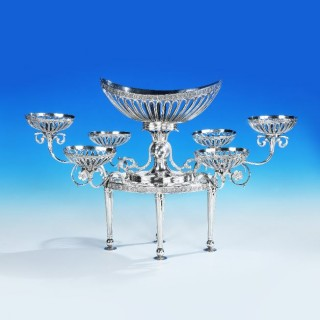 An Epergne made in London 1787 by William Pitts