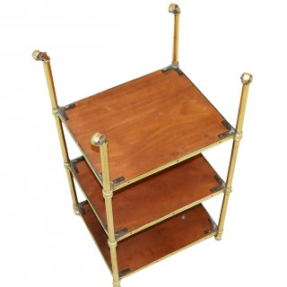 Late 19th Century Satinwood And Brass Etage