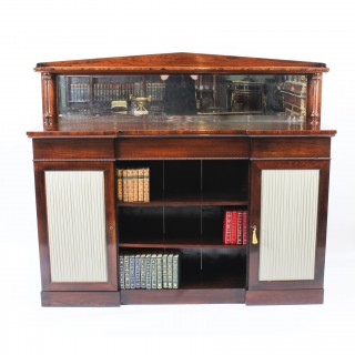 Antique William IV Chiffonier Open Bookcase Sideboard c.1835 19th Century
