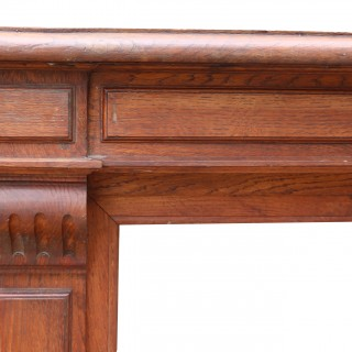 Pair Of Antique French Oak Fire Surrounds