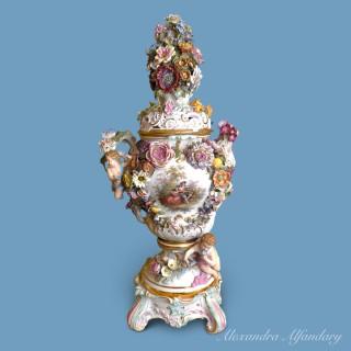 Meissen Potpourri Vase