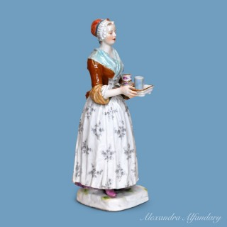 Meissen figure of the Chocolate Girl after a painting by Etienne Liotard