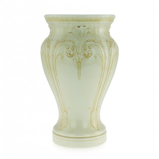 A rare Sèvres vase decorated with yellow enamel