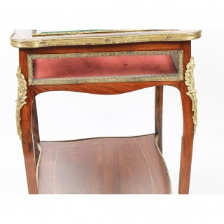 Antique Ormolu Mounted Marquetry Bijouterie Display Table 19th Century