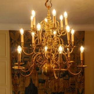A Highly Impressive 19th Century Brass Chandelier