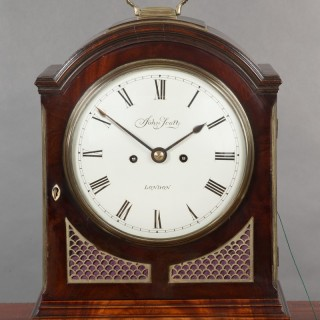 Georgian Mahogany Bracket Clock by John Scott, London.
