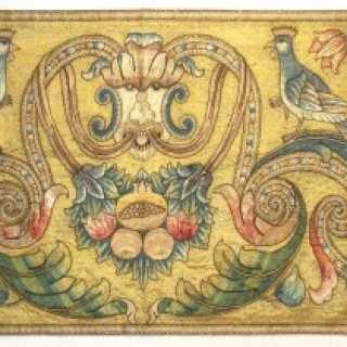 An Italian embroidered hanging