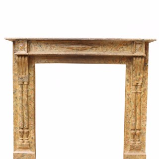 Antique French Hand Painted Fire Surround
