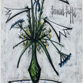 Bernard Buffet, Lilies and Irises in a Galle Vase