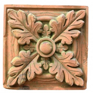 Set Of Ten Reclaimed Decorative Terracotta Bricks