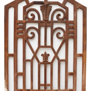 Art Deco Cast Iron Panel