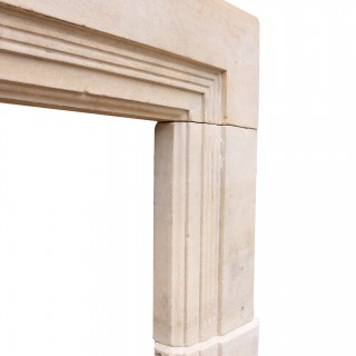 1920's Art Deco Bath Stone Fireplace