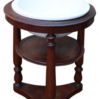 Antique Sink / Basin With Mahogany Stand