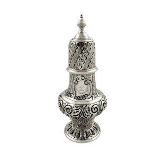 Antique Victorian Sterling Silver Sugar Shaker / Caster 1892
