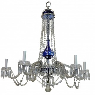 A FINE CUT GLASS BALTIC CHANDELIER