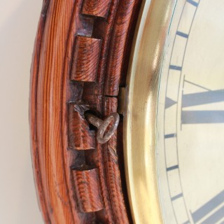 Large Fusee Drop Dial Wall clock, Gillett & Co