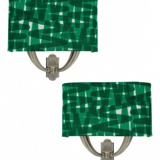 A PAIR OF ITALIAN SCONCES WITH SHADES