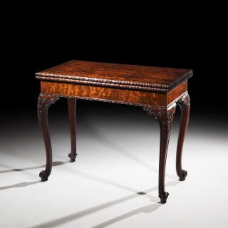Chippendale Concertina Card Table