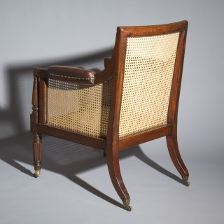 Regency Bergere Library Armchair, attributed to Gillows