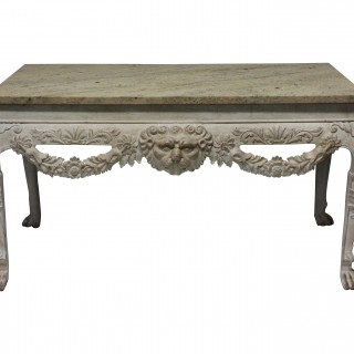 A PAIR OF LARGE ENGLISH COUNTRY HOUSE CONSOLES