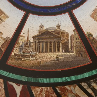Micromosaic circular table, attributed to the Vatican Mosaic Workshop