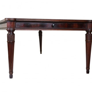 large Italian library table in the 18th century style ex collection Pierre Bergé
