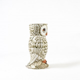 large owl shaped ceramic umbrella holder by Maison Chaumette