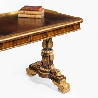 A Fine Regency Period Writing Table, Firmly attributed to Morel & Hughes