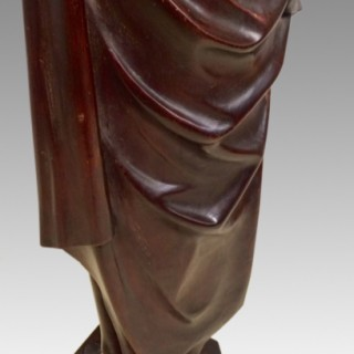Italian  classical carved walnut figure.