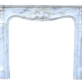 Antique Marble Louis Xv Fireplace