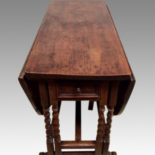 18th century oak double gate leg table.